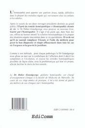 Guerir par l'homeopathie - l'homeopathie dans les cas aigus - 4ème de couverture - Format classique
