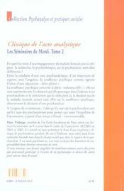 Seminaires Du Mardi (Les) T2 - 4ème de couverture - Format classique