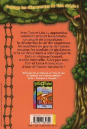 Les carnets de la cabane magique T.8 ; au temps des Romains - 4ème de couverture - Format classique
