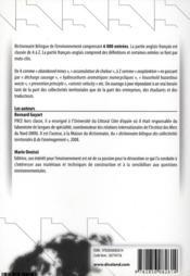 Dictionnaire de l'environnement, de l'écologie et du developpement durable - 4ème de couverture - Format classique