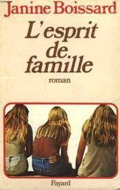 L'Esprit De Famille. - Couverture - Format classique