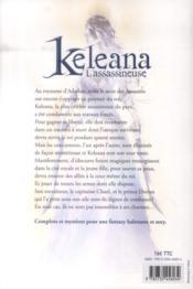 Keleana t.1 ; l'assassineuse - 4ème de couverture - Format classique
