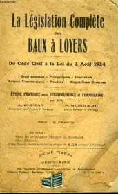 La Legislation Complete Des Baux A Loyers - Couverture - Format classique