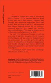 À travers une meurtrière ; roman psychanalytique - 4ème de couverture - Format classique