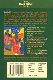 Swahili Phrasebook 2 - 4ème de couverture - Format classique