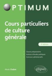 Cours particulier de culture générale (3e édition) - Couverture - Format classique