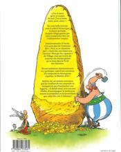 Astérix HORS-SERIE ; le menhir d'or - 4ème de couverture - Format classique