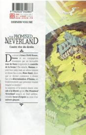 The promised Neverland T.20 - 4ème de couverture - Format classique