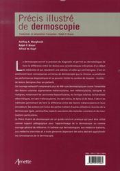 Précis illustré de dermoscopie - 4ème de couverture - Format classique