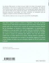 La Science Et L'Hypothese Poincare - 4ème de couverture - Format classique
