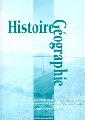 Histoire-géographie ; éducation à la citoyenneté ; 1ère et terminale professionnelle ; livre du professeur - Intérieur - Format classique