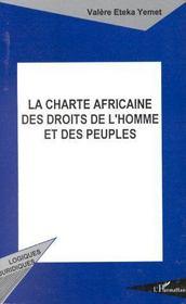La charte africaine des droits de l'homme et des peuples - Couverture - Format classique