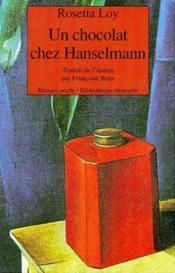 Un chocolat chez Hanselmann - Couverture - Format classique