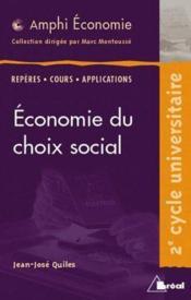 Économie du choix social - Couverture - Format classique