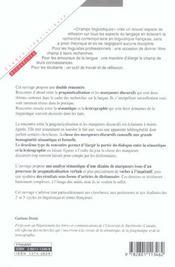 Pragmaticalisation et marqueurs discusifs - 4ème de couverture - Format classique