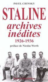 Staline, archives inedites (1926-1936) - Intérieur - Format classique