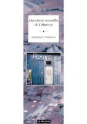 Dernieres Nouvelles De L'Absence - Couverture - Format classique