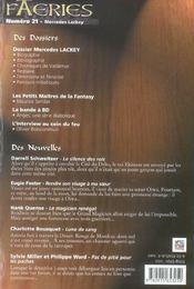 Faeries 21 special mercedes lackey - 4ème de couverture - Format classique