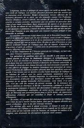 Histoire générale de l'Afrique t.2 ; Afrique ancienne - 4ème de couverture - Format classique