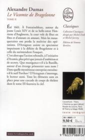 Le vicomte de Bragelonne t.2 - 4ème de couverture - Format classique