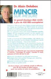 Mincir sur mesure grâce à la chrono-nutrition (édition 2012) - 4ème de couverture - Format classique