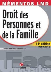 Droit des personnes et de la famille (11e édition) - Couverture - Format classique