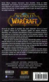 World of warcraft ; légendes - 4ème de couverture - Format classique