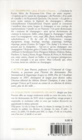 Le champagne - 4ème de couverture - Format classique