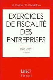 Exercices de fiscalite des entreprises 2000-2001 ; 13e edition - Intérieur - Format classique