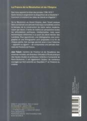 La france de la Révolution et de l'Empire (2e édition) - 4ème de couverture - Format classique
