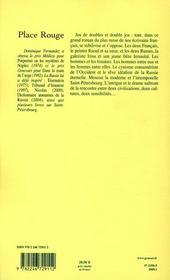 Place Rouge - 4ème de couverture - Format classique