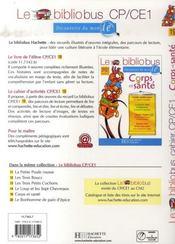 CP, CE1 ; corps et santé ; cahier d'activités - 4ème de couverture - Format classique