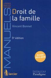Droit de la famille (5e édition) - Couverture - Format classique
