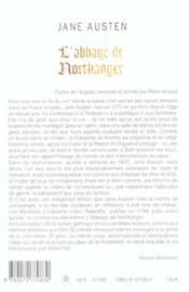 L'Abbaye De Northanger - 4ème de couverture - Format classique