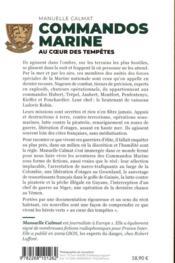 Commandos marine ; au coeur des tempêtes - 4ème de couverture - Format classique