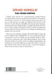 Les roses noires - 4ème de couverture - Format classique