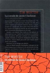 La cavale de Jaxie Clackton - 4ème de couverture - Format classique