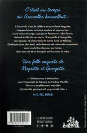 Les folles enquêtes de Magritte et Georgette T.1 ; nom d'une pipe - 4ème de couverture - Format classique