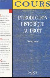 Introduction Historique Au Droit - Couverture - Format classique