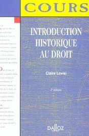 Introduction Historique Au Droit - Intérieur - Format classique
