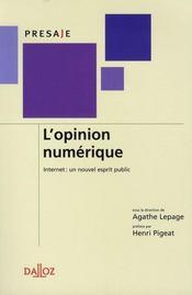L'opinion numérique ; internet : un nouvel esprit public - Intérieur - Format classique