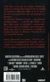 Le 6e Sens ; Le Film - 4ème de couverture - Format classique