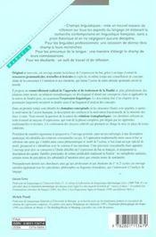 La finalité ; fondements conceptuels et genèse linguistique - 4ème de couverture - Format classique