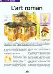 Petit Guide T.29 ; L'Art Roman - Intérieur - Format classique