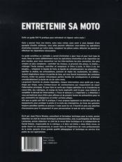 Entretenir sa moto - 4ème de couverture - Format classique