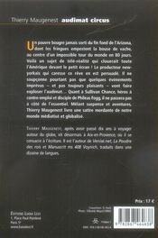 Audimat Circus - 4ème de couverture - Format classique