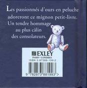 Petit Livre Des Nounours - 4ème de couverture - Format classique