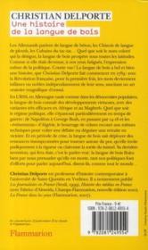 Une histoire de la langue de bois - 4ème de couverture - Format classique