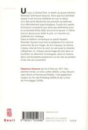 Sheridan square - 4ème de couverture - Format classique