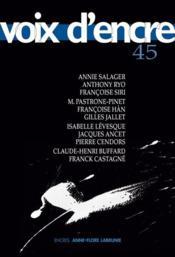 Revue Voix D'Encre N.45 - Couverture - Format classique
